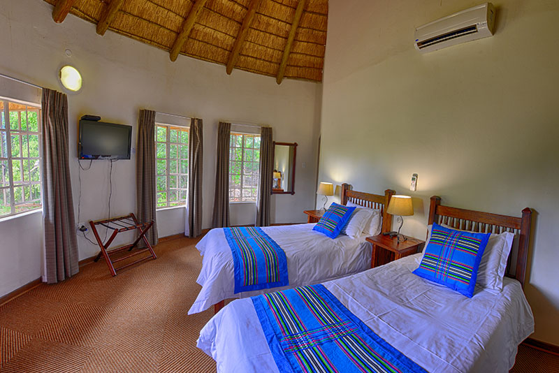 chalet bedroom at awelani lodge