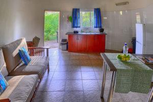 chalet kitchen at awelani lodge