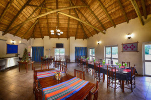 dining area at awelani lodge